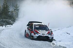 WRCスウェーデン:エバンスが快走。トヨタ勢が上位に並ぶ