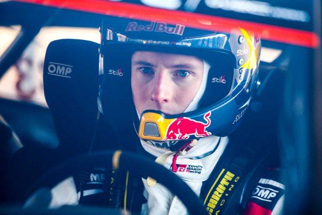 WRC:トヨタ、第2戦スウェーデン大会2日目は全車がトップ4入り。首位エバンスは「飛ぶような速さ」