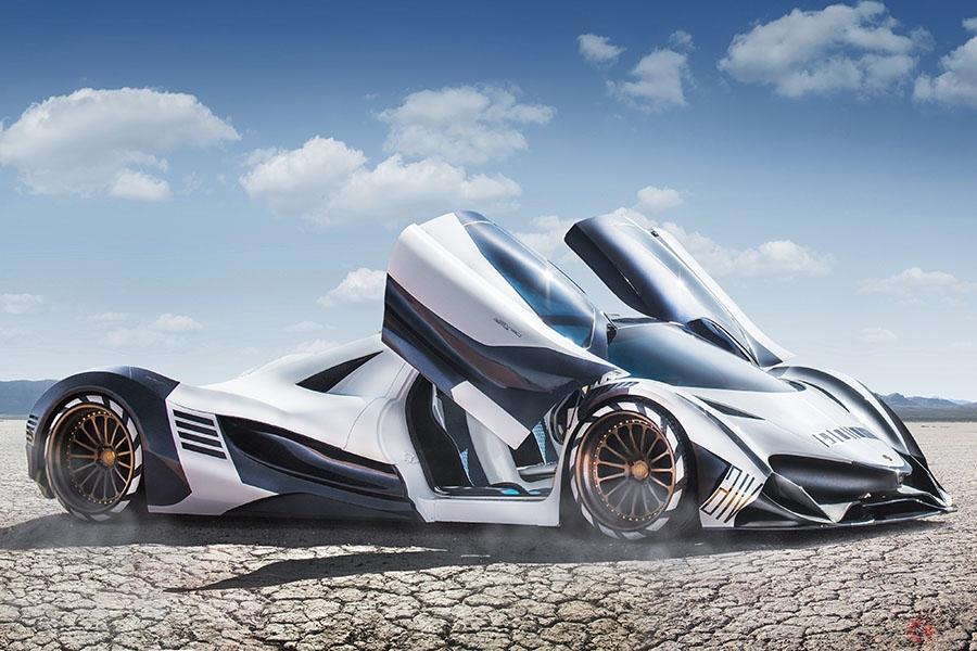 桁が違う… 5007馬力の12000ccエンジン搭載 ドバイ製スーパーカー「THE DEVEL SIXTEEN」カナダオートショーに登場