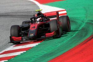 FIA-F2第1戦オーストリア レース1:アイロット優勝。松下は9位。角田は洗礼を受ける