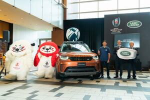 ジャガー・ランドローバー・ジャパンが「ラグビーワールドカップ2019日本大会」で、計275台のランドローバー車をオフィシャルカーとして提供