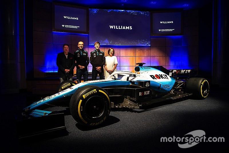 """【F1新車発表】ウイリアムズ、新マシン用の""""斬新な""""カラーリングを発表。ROKiTがタイトルスポンサーに"""