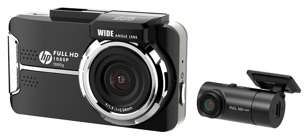 ソニー製CMOSセンサー搭載で高画質録画に対応したHPの前後2カメラドライブレコーダー「F880GK」