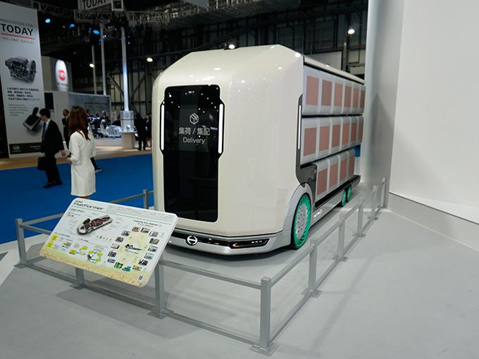 UDトラックス、いすゞ、三菱ふそう、日野の最先端トラック・バスがズラリ! 搭乗体験もできる商用車エリア【東京モーターショー2019】