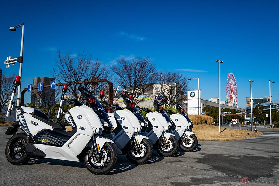 BMWが警視庁に電動バイクを納入 東京マラソン2020で初披露