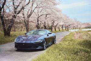 最高出力620cvを誇るフロントミッドシップエンジンを搭載したフェラーリの最新V8 2+クーペ「Roma」が上陸