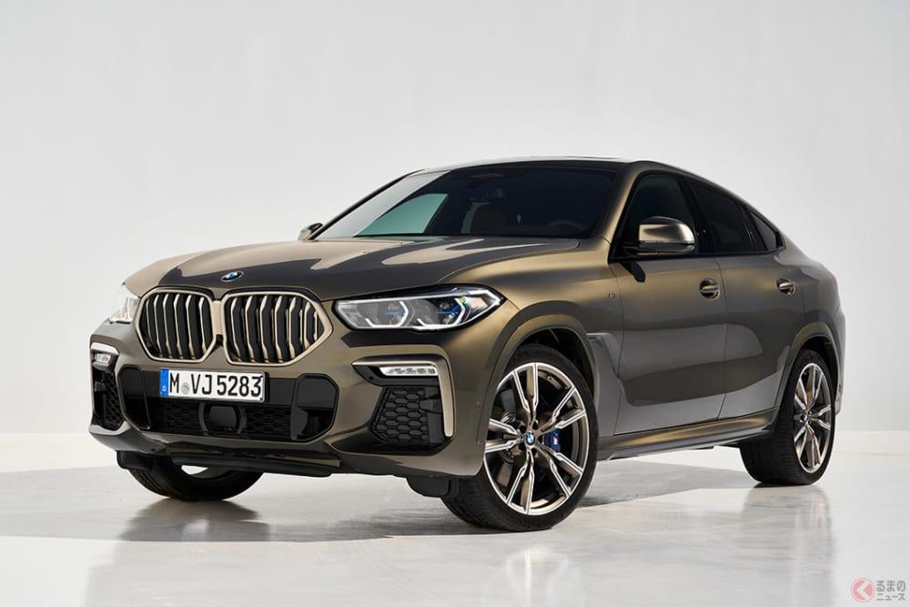 BMW「X6」の新型車発表! さらにロング、ワイド、ローなクーペスタイルを実現