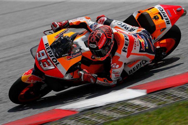 """MotoGP2019年シーズン始動。セパンでスタートの公式テスト初日、王者マルケスが""""最初の""""トップ奪取"""