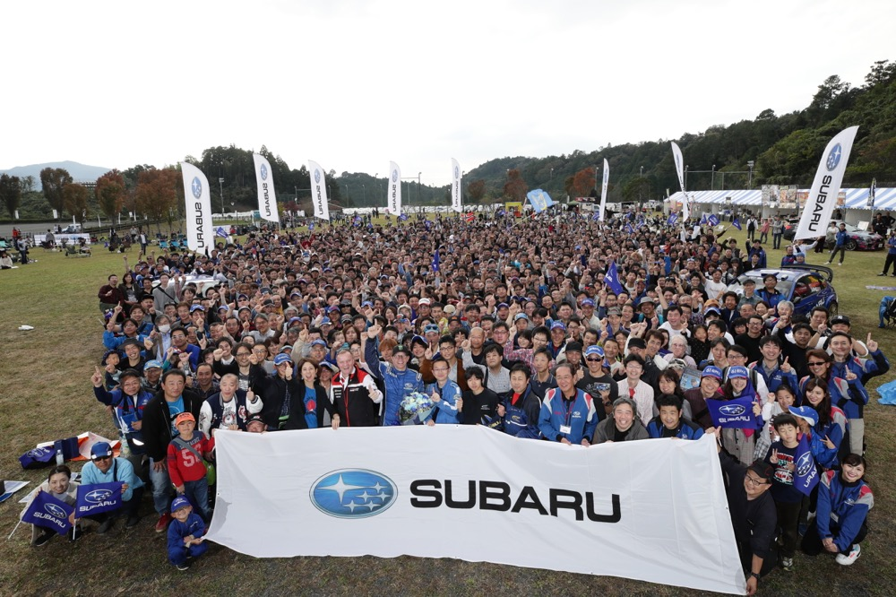 マキネンとソルベルグの両雄を迎え、名機EJ20にサヨナラ。WRXファンミーティングに約1000台が集結!