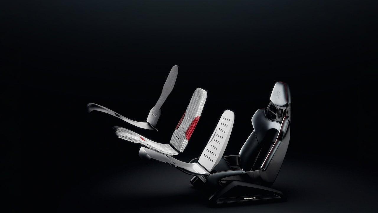 ポルシェが開発した「3Dプリント ボディフォーム フルバケットシート」が実用化