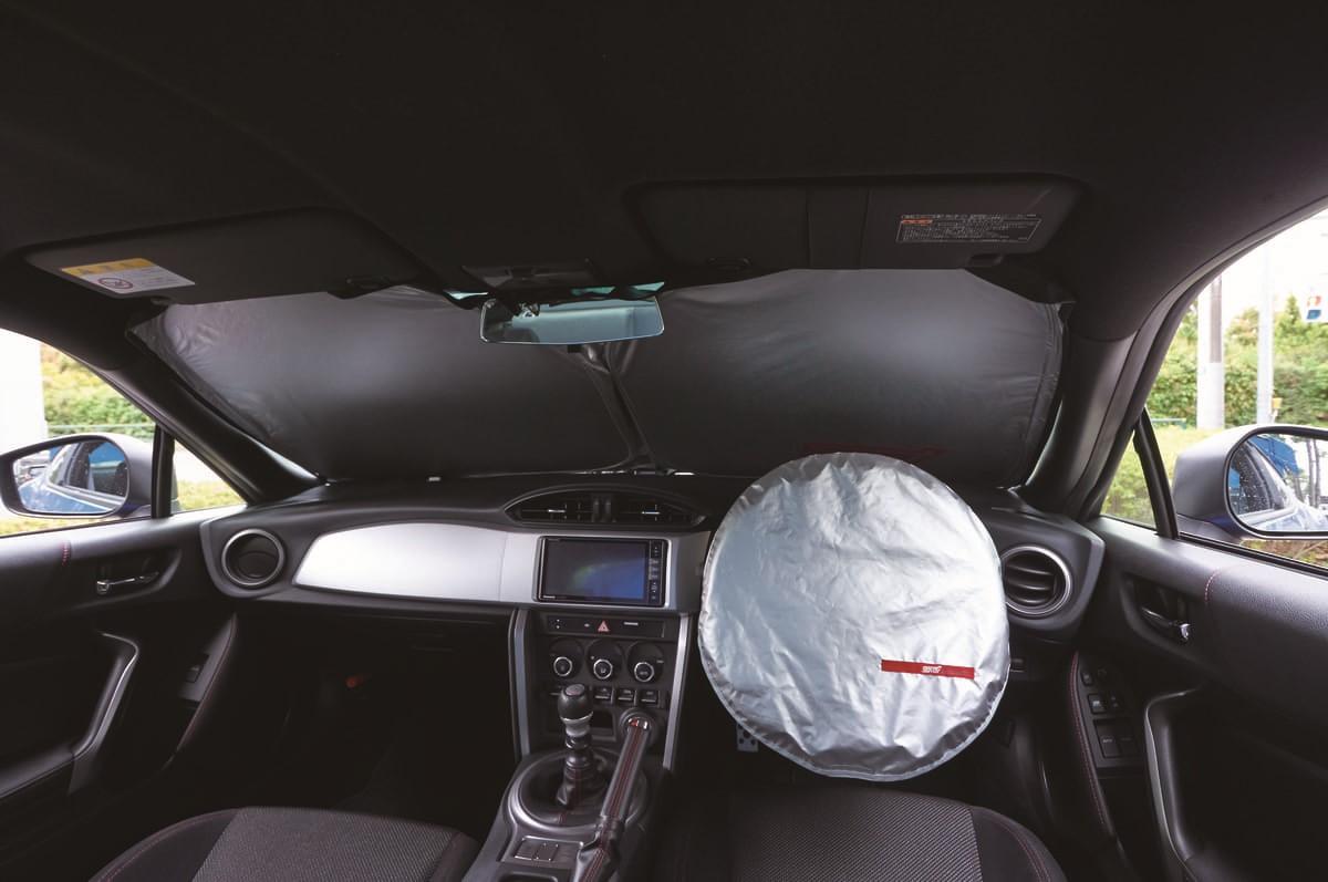 SUBARU全車対応「STI サンシェード」発売、ズレにくく折りたたみやすいスグレモノ