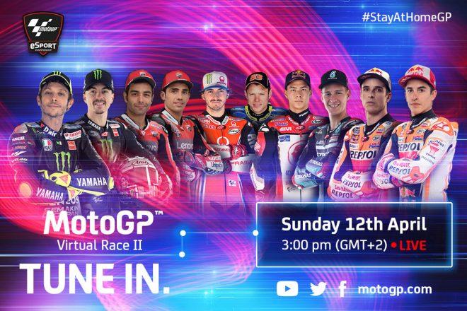 MotoGPバーチャルレース:4月12日開催の第2戦はロッシ、中上も参戦。舞台はレッドブルリンク