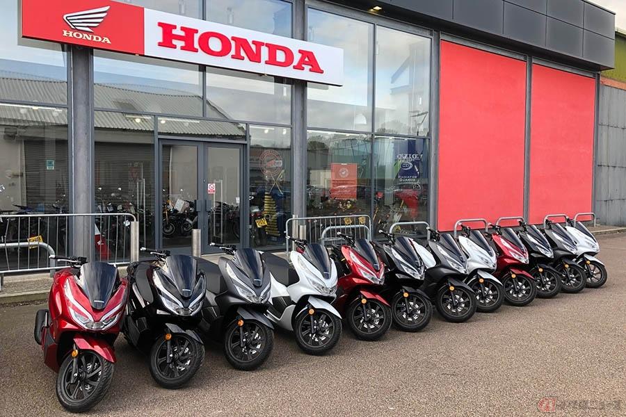 新型コロナと戦うボランティアにスクーターを供給 イギリスのホンダディーラー「MAIDSTONE HONDA」