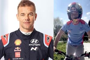 フジガスも注目! WRCの絶対王者セバスチャン・ローブが自宅でトライアル走行する姿を公開!!