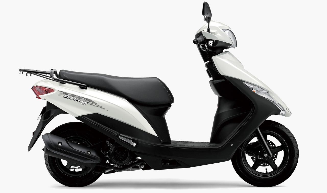 スズキが原付二種スクーター「アドレス125」と「アドレス125 フラットシート仕様」の新色を発表!