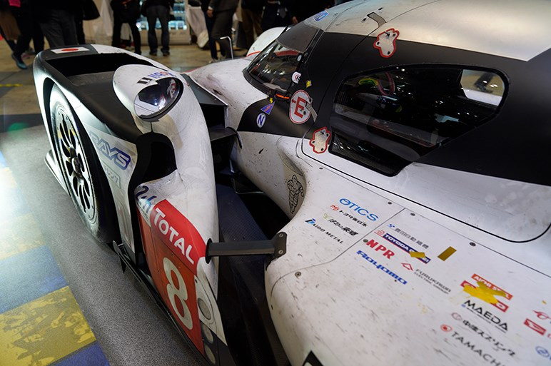 ル・マンで2年連続優勝、トヨタのTS050ハイブリッドの優勝マシン - 東京オートサロン