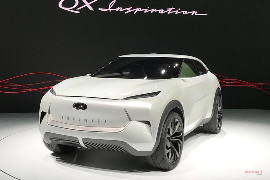 インフィニティQXインスピレーション ブランド初の量産EV デトロイトショー2019