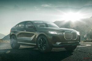 BMW X8 3列シートか、2列シートか AUTOCAR予想イラスト