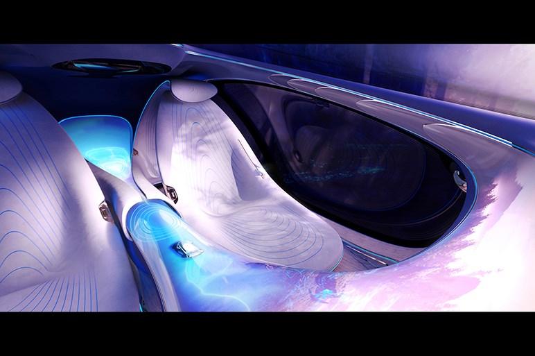 """生物のようなスタイルに""""ウロコ""""…メルセデス、映画「アバター」とコラボしたコンセプトカーを発表"""
