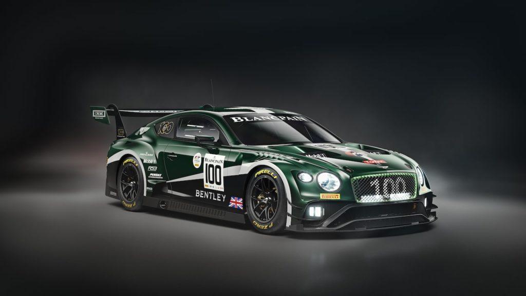 ベントレーの100周年カラーを施した「コンチネンタルGT3」、スパ24時間レースに4台投入