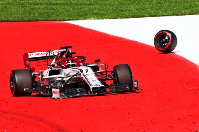 ライコネンのタイヤ脱落でアルファロメオF1チームに罰金:F1 オーストリアGP