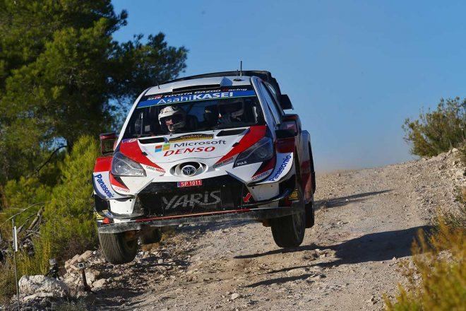 WRC第13戦スペイン:トヨタ、競技初日は総合4~6番手。「午後のステージではすべての歯車が噛み合った」とミーク