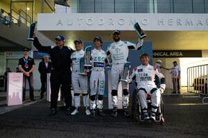 ピュアEVのワンメイクレース、「ジャガーIペイスeトロフィー」で初参戦の青木拓磨選手が早くも表彰台に