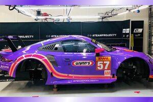 WEC:チーム・プロジェクト1の57号車ポルシェがウインズカラーに。アメリカ2連戦で採用予定