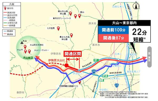 NEXCO中日本 新東名高速「伊勢原JCT−伊勢原大山IC」が3月7日に開通