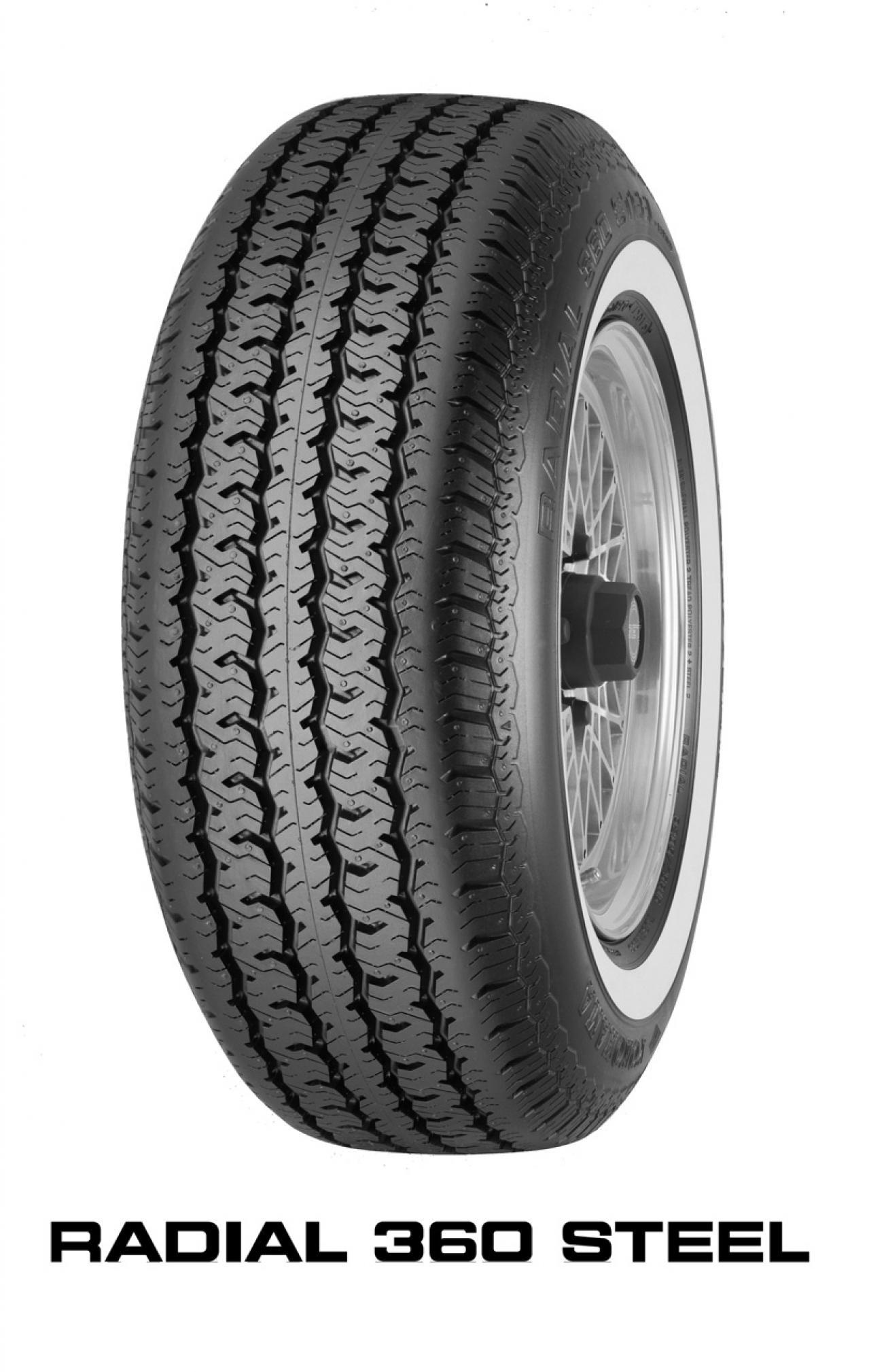 横浜ゴムがヒストリックカー向けのホワイトリボンタイヤ「RADIAL 360 STEEL」を3月5日に発売! 全4サイズをラインナップ