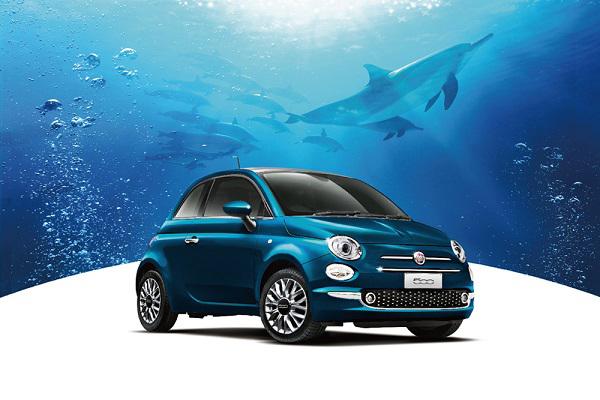 フィアット 新色エピックブルーのボディ色の限定車「500 MareBlu」を発売