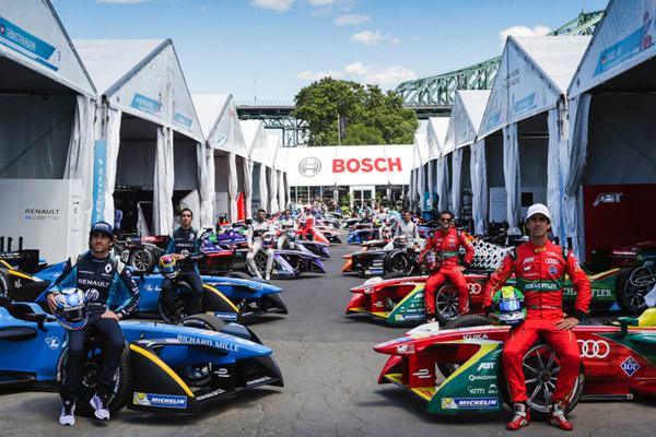 ボッシュ、FIAフォーミュラE選手権シリーズの公式スポンサーに