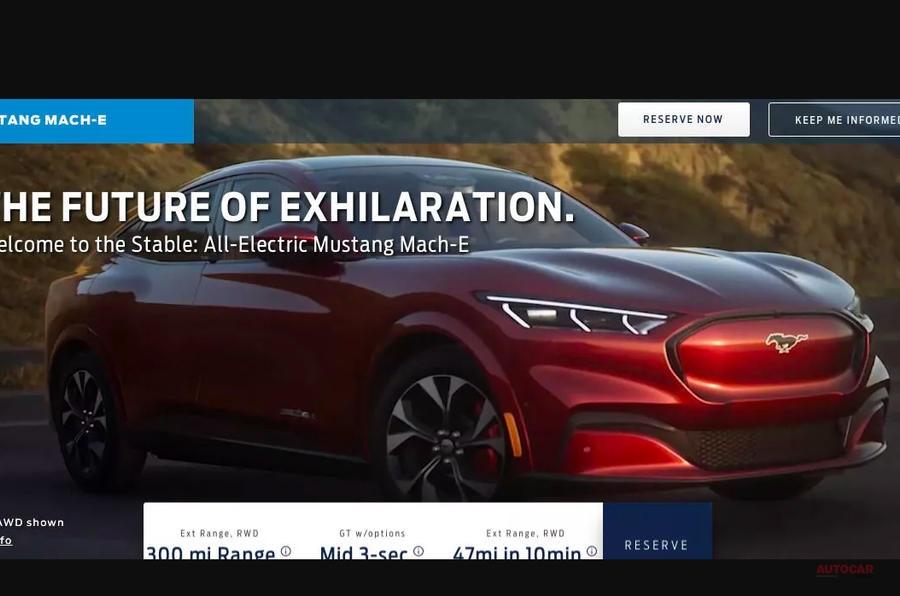 フォード・マスタング・マッハE 初の画像リーク、EVの新型SUV LAショー2019