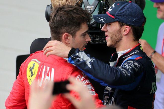 ルクレール「ベッテルがどんどん寄せてきて、最終的に接触した」:フェラーリ F1ブラジルGP