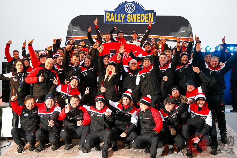 トヨタ、WRC第2戦スウェーデンで今季初優勝! チームは選手権首位に浮上