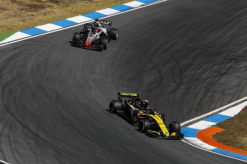ルノーのヒュルケンベルグ、ハースの強さに白旗? 「フェラーリ製パワーユニットの力は相当なモノ」|F1ドイツGP
