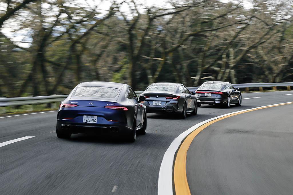 【比較試乗】「アウディA7 スポーツバック vs BMW 8シリーズ・グランクーペ vs メルセデスAMG GT53」もっとも華麗なドライバーズカーの競演