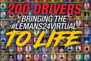 バーチャル・ル・マン24時間、エントリーリストが確定。F1、WEC、FEから超豪華メンバー揃う