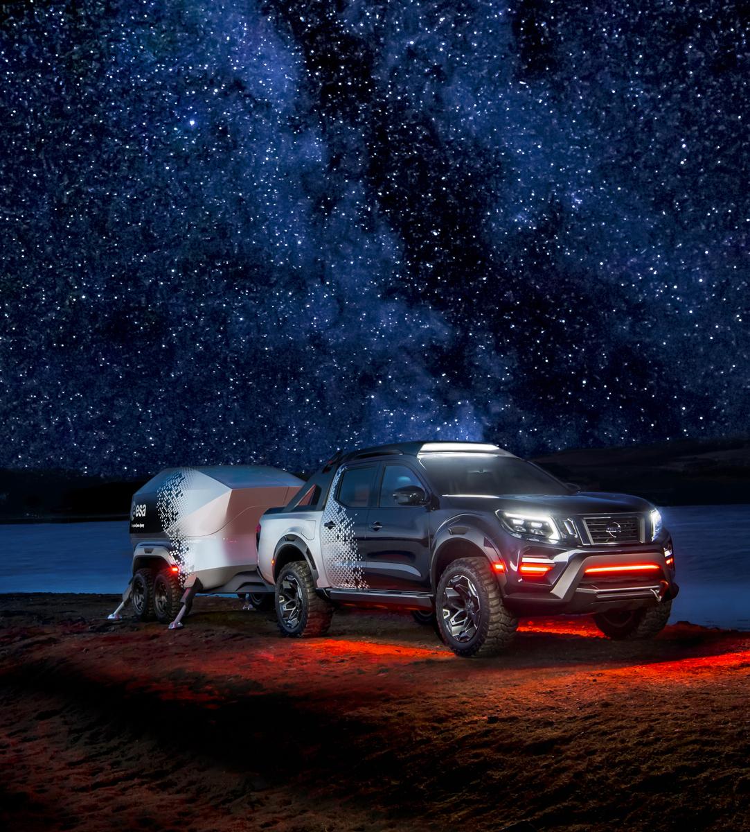 日産、モバイル天文ラボの機能を持つ宇宙観測車「ナバラ ダークスカイ コンセプト」公開