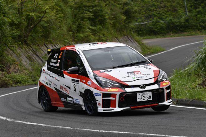 全日本ラリー:トヨタ・ヴィッツGRMNラリー、デビュー地の丹後でクラス3位獲得