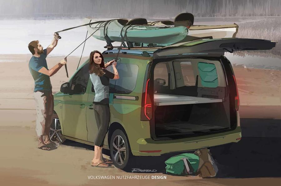 【VWのキャンピングカー】フォルクスワーゲンの新型車、キャディ・ビーチ 9月欧州発表へ