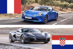 今夜W杯決勝!フランスとクロアチアの車たち