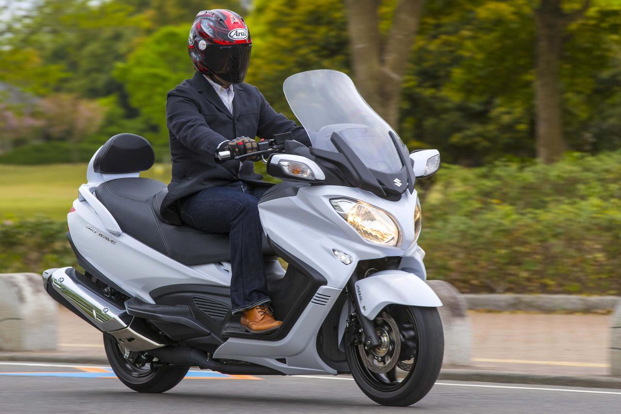 〈試乗インプレ〉メガスクーターじゃない、ハイクラスGTだ!スズキ「スカイウェイブ650LX」(2018年)