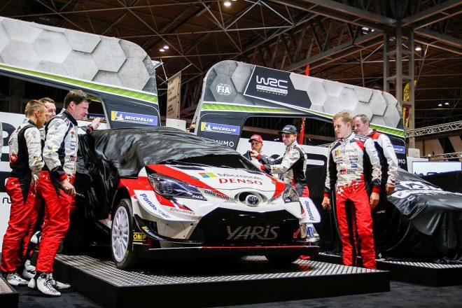 WRC:トヨタ、2020年参戦体制を東京オートサロンで発表。2020年参戦用車両も展示