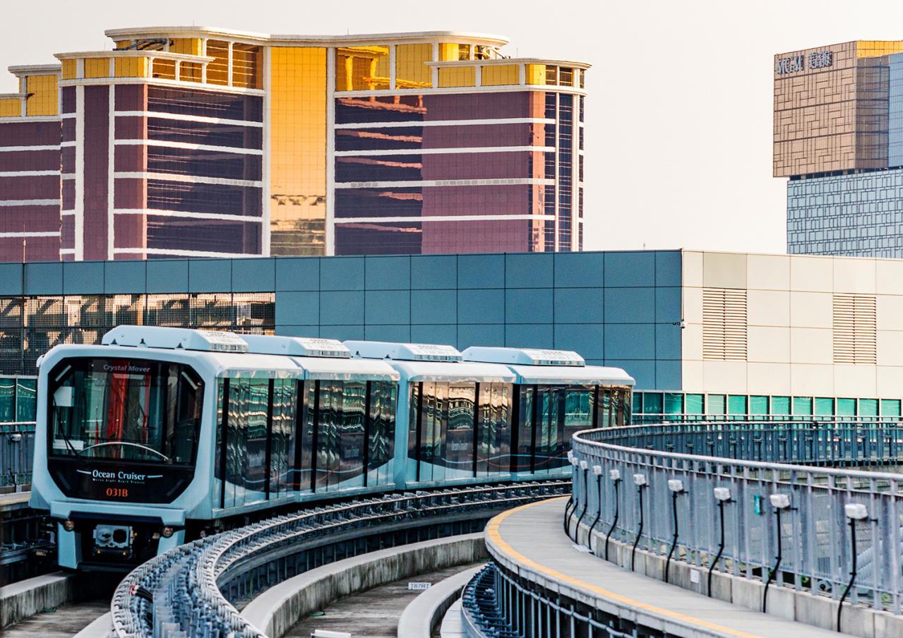 三菱重工エンジニアリング:マカオに9.3kmのLRT路線を新設し車両110両を納入