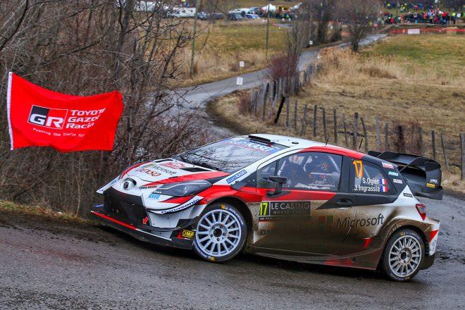 WRCモンテカルロ:競技2日目、トヨタがワン・ツー体制構築。王者タナクは高速クラッシュでリタイア