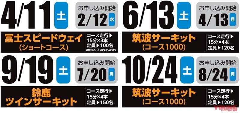 「バトラックス ファン&ライドミーティング」で楽しくスキルアップ! 第1回は4月11日・富士ショート