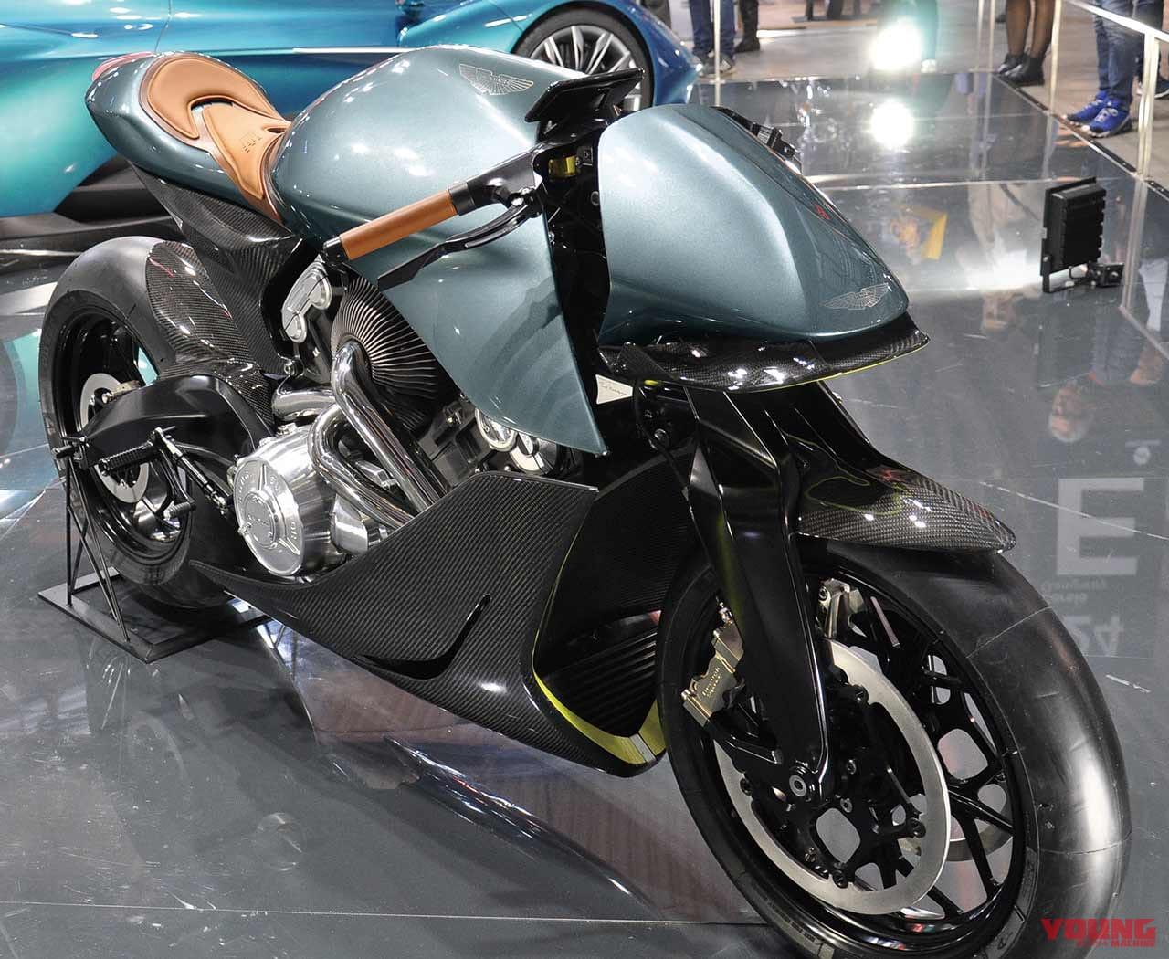 アストンマーティン×ブラフシューペリア=100台のみの英国製ターボバイク・AMB001