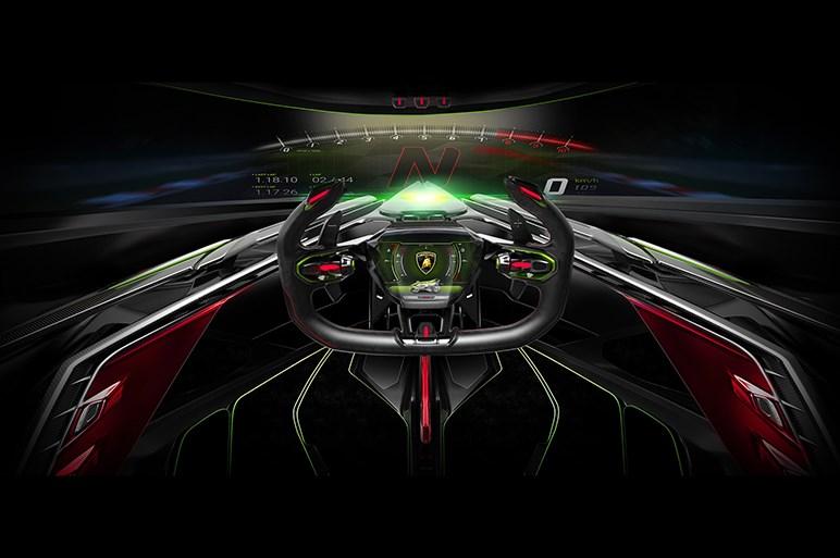 伊ランボルギーニ、コンセプトカー「ランボV12ビジョン・グランツーリスモ」を披露
