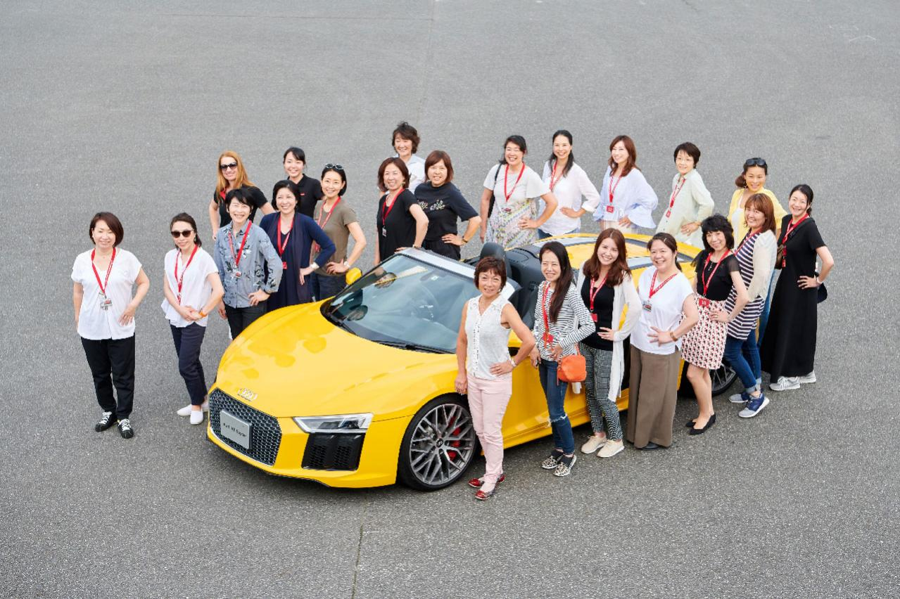 アウディジャパンが日本初となる女性向けドライビングレッスン「アウディ・ウーマンズ・ドライビング・エクスペリエンス」を実施